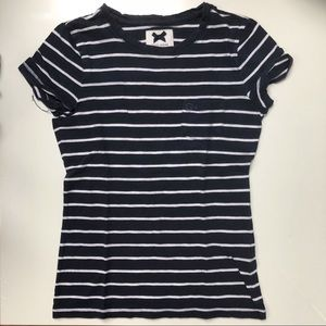 Gilly Hicks navy & white striped tee shirt